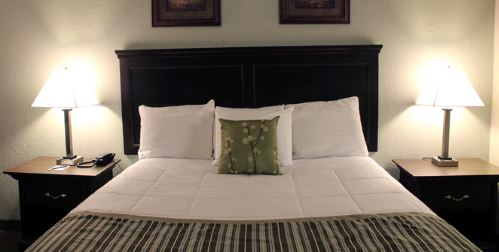 grand view inn bed front